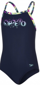 Speedo Thinstrap Powderpuff Muscleback Girl Navy/Diva/Spearmint