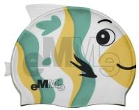 Dětská plavecká čepička Emme zeleno-žlutá ryba