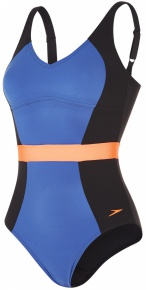 Speedo CrystalGleam 1 Piece Black/Ultramarine/Fluo Orange