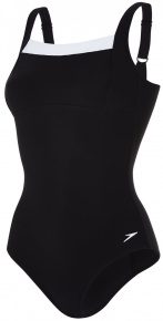 Speedo Contour Renew 1 Piece Black/White