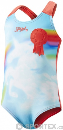 Speedo Sunkissed Shine Applique 1 Piece Kids Watermelon