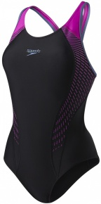 Speedo Fit Laneback Black/Diva/Vita Grey