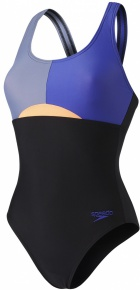 Speedo HydrActive Swimsuit Black/Vita Grey/Ultramarine