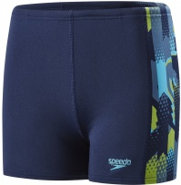 Speedo Alphablast Allover Panel Aquashort Boy Navy/Turquoise/Apple Green