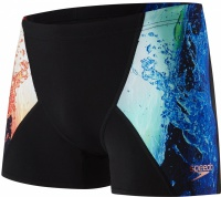 Speedo Energy Blast Placement V Aquashort Black/Lobster/Violet