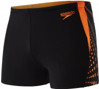 Speedo Graphic Splice Aquashort Black/Fluo Orange