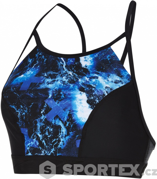 b7b7e906e5f Speedo Stormza Crop Top Black Ultramarine Stellar
