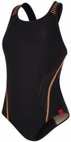 Speedo Fit PowerMesh Pro Black/Fluo Orange