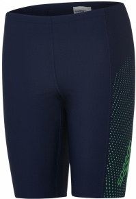Speedo Gala Logo Panel Jammer Boy Navy/Lawn