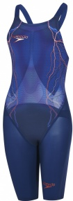 Speedo LZR Elite 2 Openback Kneeskin Fast Blue/Copper