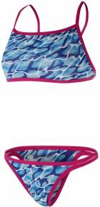 Speedo Waterflow/Fireglam Flip Reverse 2 Piece Teen Electric Pink/Turquoise/Amparo Blue