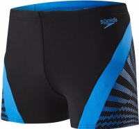 Speedo Chevron Splice Aquashort Black/Neon Blue