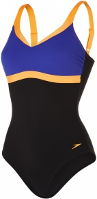 Speedo Aquajewel 1 Piece Black/Ultramarine/Fluo Orange