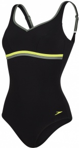Speedo Contourluxe 1 Piece Black/Lime