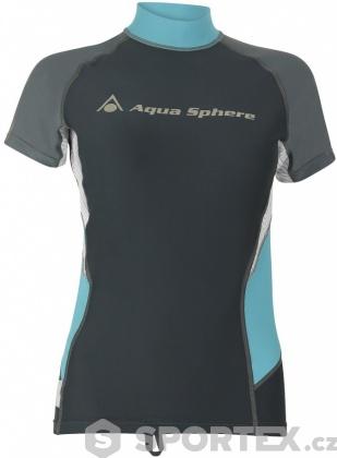 Aqua Sphere Amy Rash Guard Dark Grey/Grey
