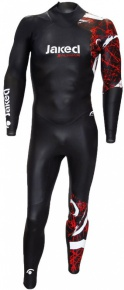 Jaked FFWW One Thickness Wetsuit Men Black/Red