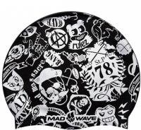 Mad Wave Silicone Printed Swim Cap 78 Junior