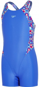 Speedo Psychedelic Blast Printed Legsuit Girl Amparo Blue/Spearmint/Electric Pink