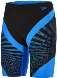 Speedo Chevron Splice Jammer Black/Neon Blue