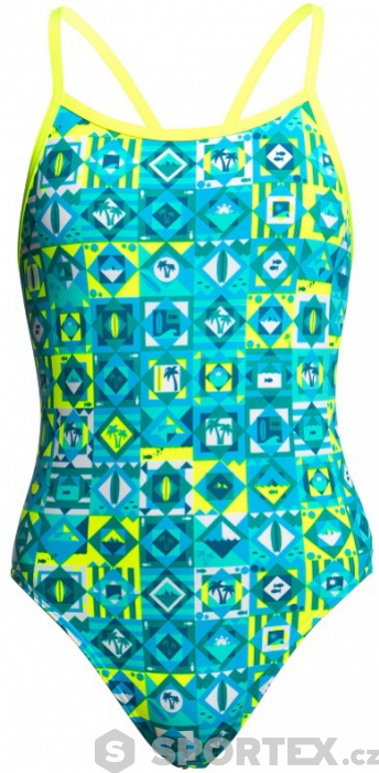 Funkita Lime Light Single Strap One Piece Girls  e53d9021d8