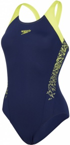 Speedo Boom Splice Muscleback Navy/Lime