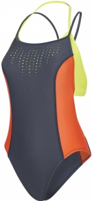 Speedo Ultra Fizz Pivotback Swimsuit Grey/Lime