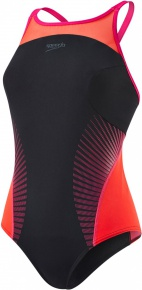 Speedo Fit Splice Xback Black/Red/Pink