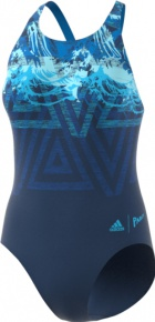 Adidas Fitness Training Suit Placed Print Parley Bright Blue/Bright Cyan
