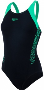 Speedo Boom Splice Muscleback Black/Fake Green