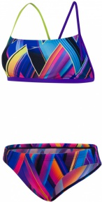 Speedo Fizz Bounce 2 Piece Crossback Teen Violet/Lime Punch/Turquoise