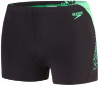 Speedo Boom Splice Aquashort Black/Fake Green
