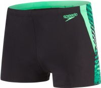 Speedo Graphic Splice Aquashort Black/Fake Green/White