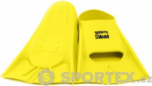 Plavecké silikonové ploutve BornToSwim Yellow