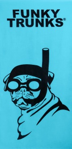 Funky Trunks Snorkel Pug Towel