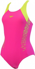 Speedo Boom Splice Muscleback Girl Electric Pink/Lime Punch