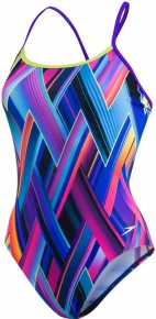 Speedo Fizz Bounce Single Crossback Teen Violet/Lime Punch/Turquoise