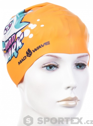 Mad Wave Mad Shark Swim Cap Junior