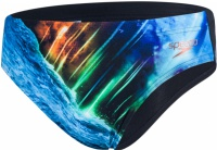 Speedo Placement Digital 7cm Brief Solardive Black/Turquoise