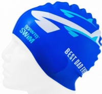 BornToSwim Dad Swimming Cap
