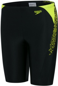 Speedo Boom Splice Jammer Boy Black/Lime Punch