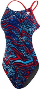 Tyr Heat Wave Cutoutfit Navy/Red