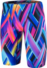 Speedo Fizz Bounce Allover V Jammer Teen Violet/Lime Punch/Turquoise