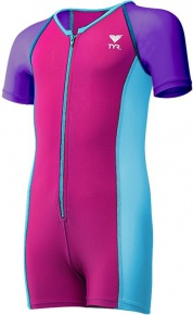Tyr Thermal Suit Girls Purple/Pink/Blue