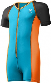 Tyr Thermal Suit Boys Blue/Orange