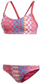 Adidas Performance Bikini Allover Printed Real Pink/Bright Blue