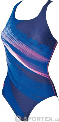 Arena W Prisma One Piece V Back Navy/Aphrodite
