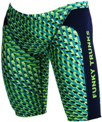 Funky Trunks Green Gator Training Jammer Boys
