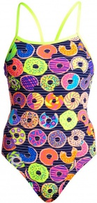 Funkita Dunking Donuts Single Strap One Piece