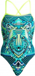Funkita Wear Wolf Strapped In One Piece