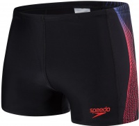 Speedo Placement Aquashort Black/Chroma Blue/Lava Red